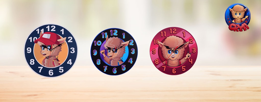 Inspire the young minds with beautiful cartoon printed wall clocks!
