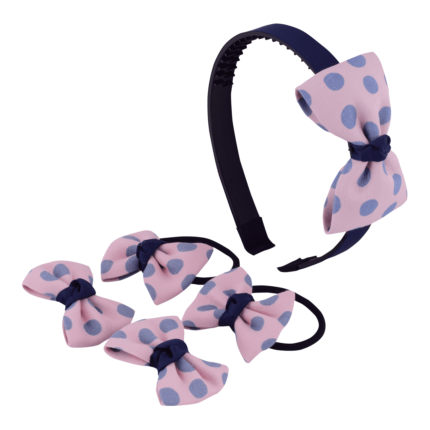 polka-bow-hair-accessory-set-hofa6016pinblu