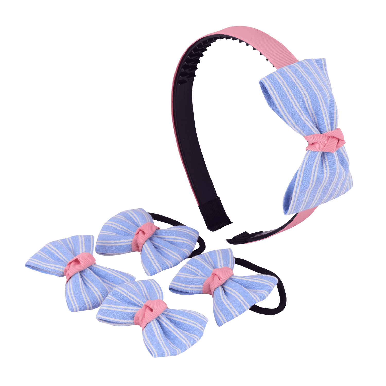 STRIPES BOW HAIR ACCESSORY SET