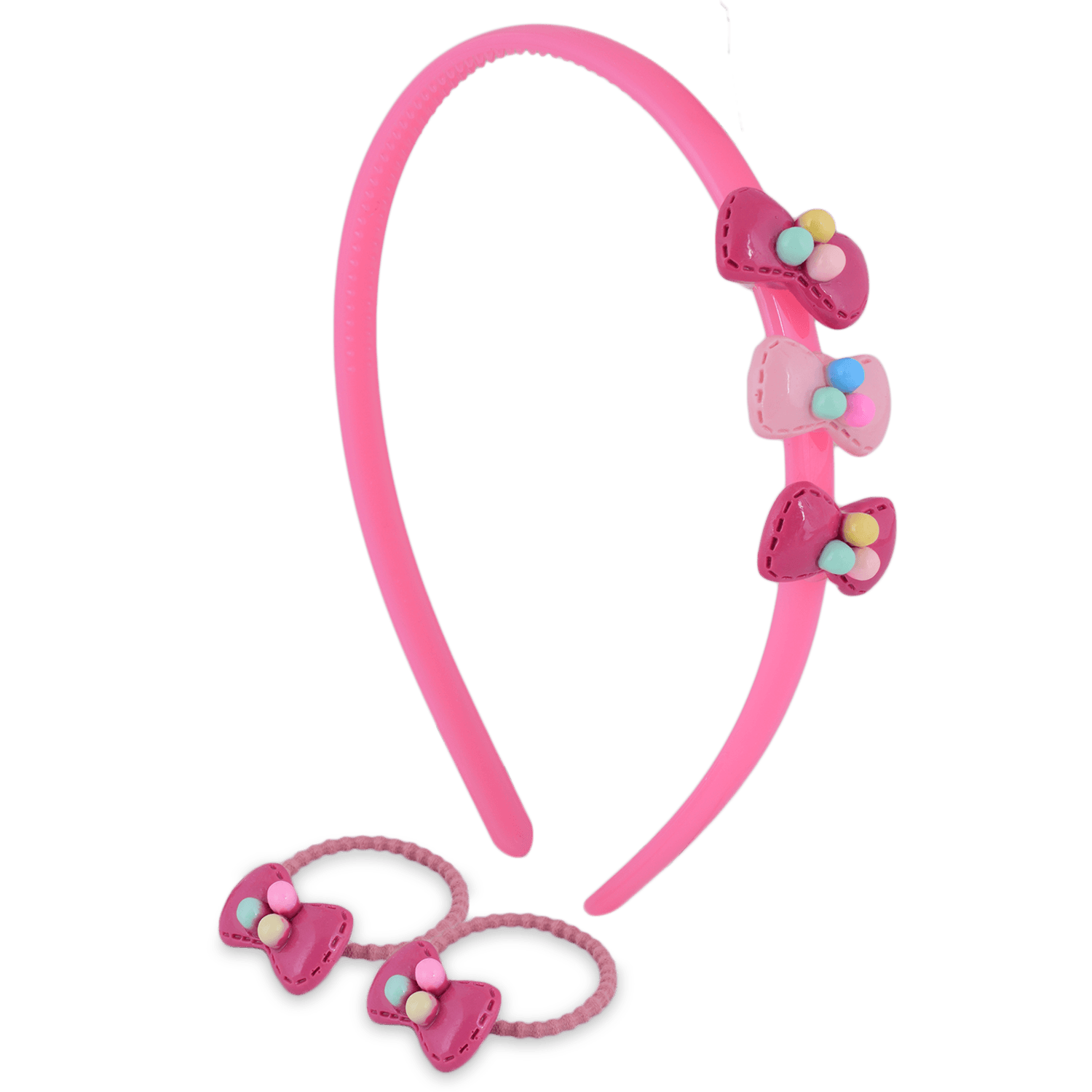 CANDY BOW HAIR ACCESSORY SET