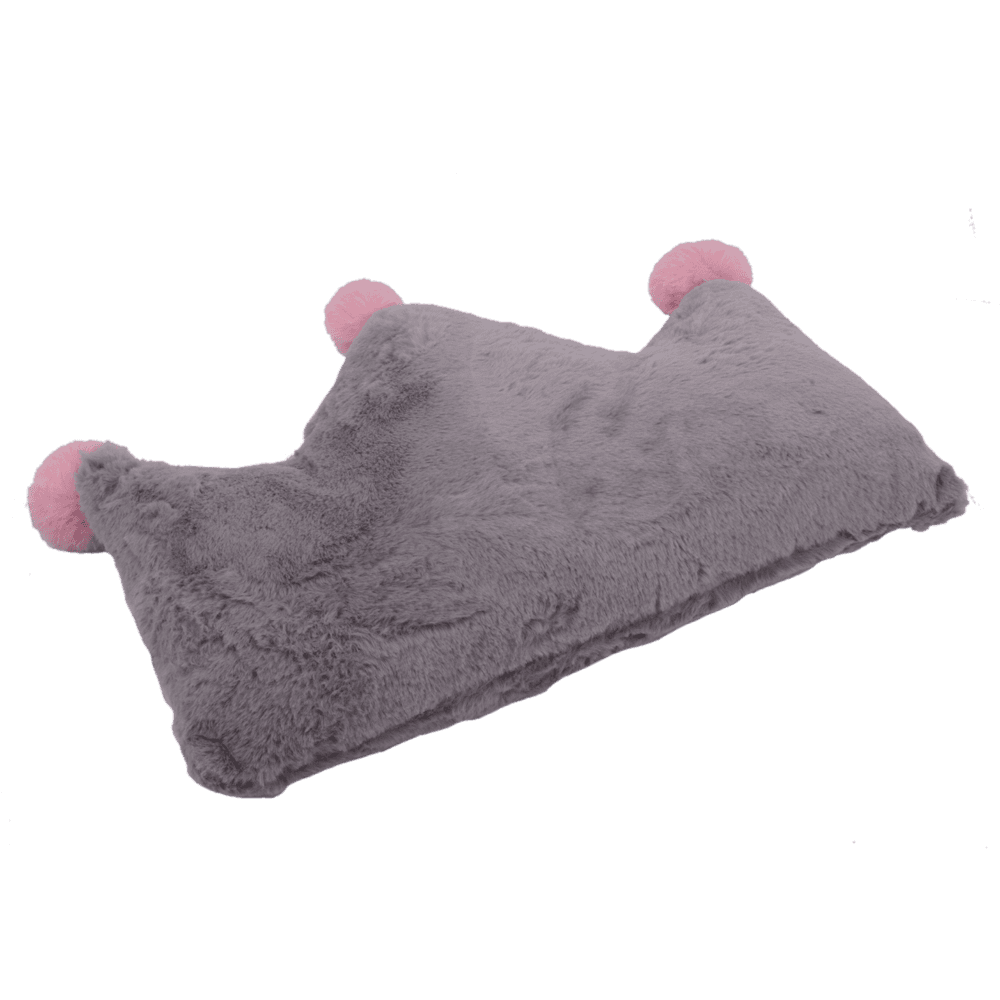 crown-plush-fur-cushion-rdcu7006gra