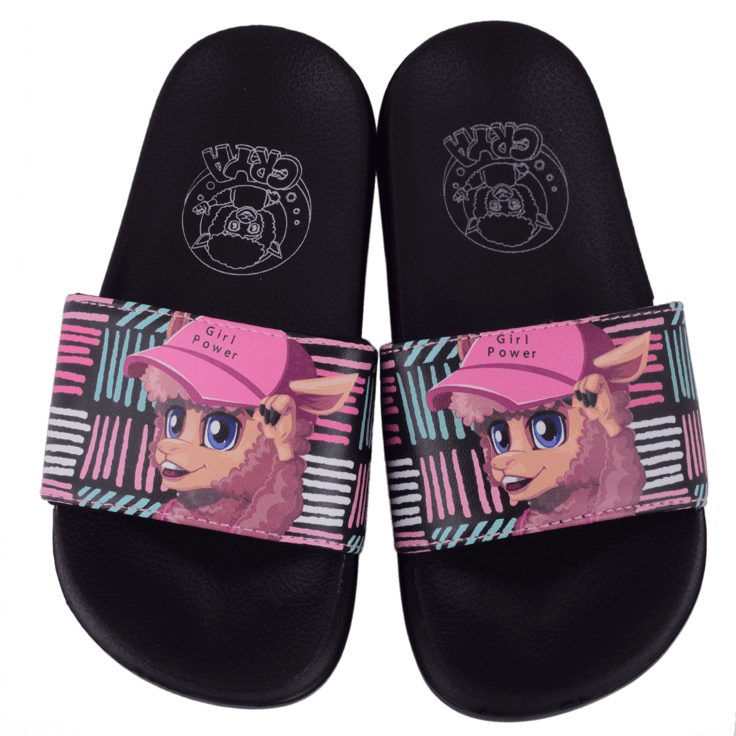 crya-girl-power-slide-on-slipper-slsl8002girbla