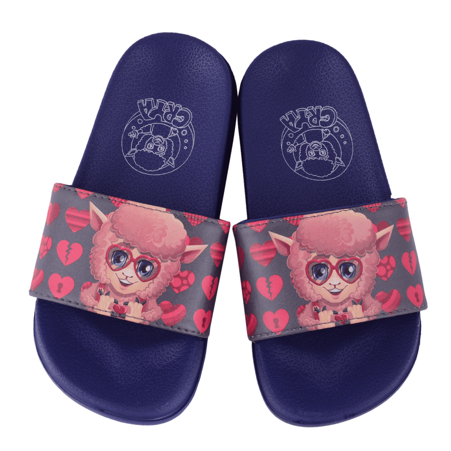crya-live-love-laugh-slide-on-slipper-slsl8006lllblu